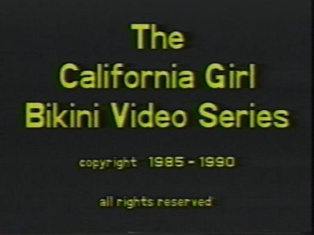 California Girls Bikini Contest 13 (1985-1990)