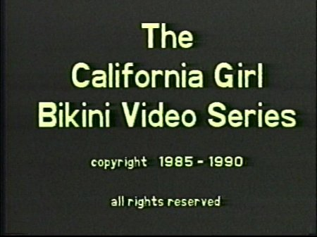 California Girl Bikini Contest 1 (1985)